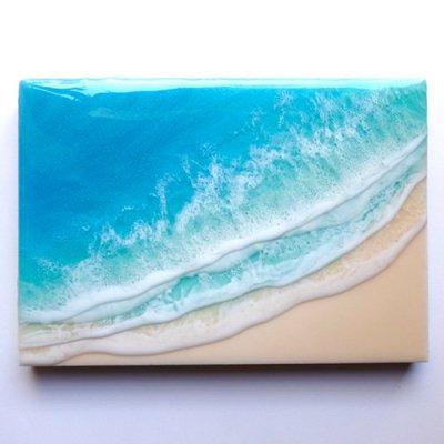 【Luana Ocean Art・ルアナオーシャンアート】  A5 アート #57・マケナグリーン