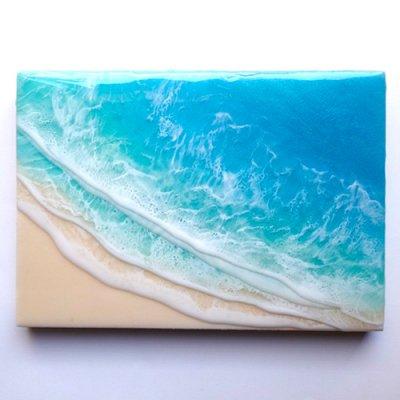 【Luana Ocean Art・ルアナオーシャンアート】  A5 アート #58・マケナグリーン