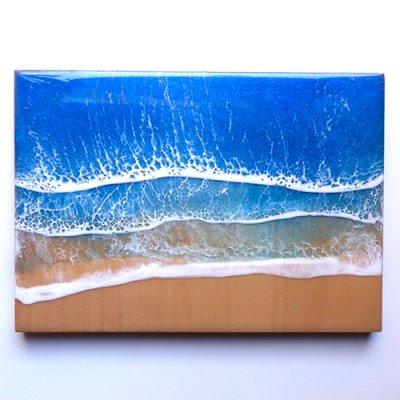 【Luana Ocean Art・ルアナオーシャンアート】  A4 アート #48・ホノルアブルー