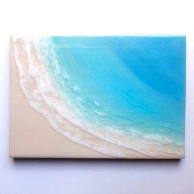 【Luana Ocean Art・ルアナオーシャンアート】  A4 アート #70・マケナグリーン