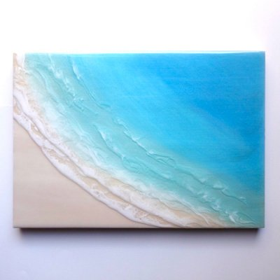 【Luana Ocean Art・ルアナオーシャンアート】  A4 アート #69・マケナグリーン