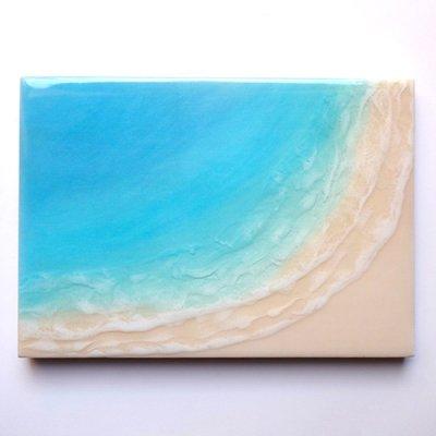 【Luana Ocean Art・ルアナオーシャンアート】  A4 アート #65・マケナグリーン