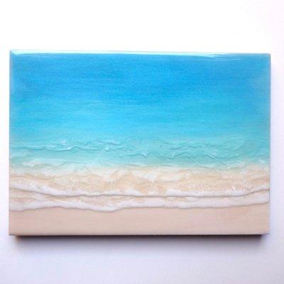 【Luana Ocean Art・ルアナオーシャンアート】  A4 アート #68・マケナグリーン
