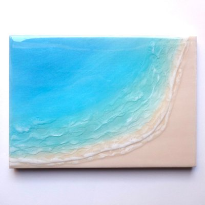 【Luana Ocean Art・ルアナオーシャンアート】  A4 アート #66・マケナグリーン