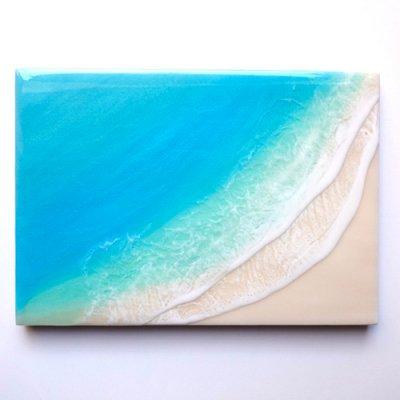 【Luana Ocean Art・ルアナオーシャンアート】  A4 アート #61・ラニカイグリーン