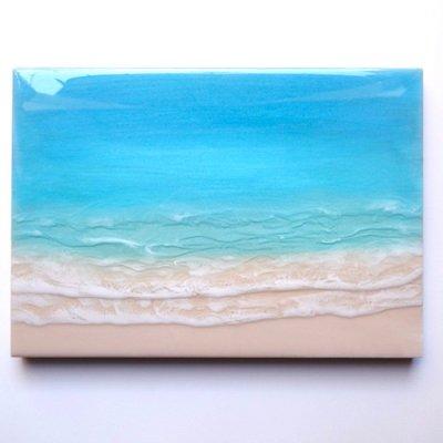 【Luana Ocean Art・ルアナオーシャンアート】  A4 アート #67・マケナグリーン