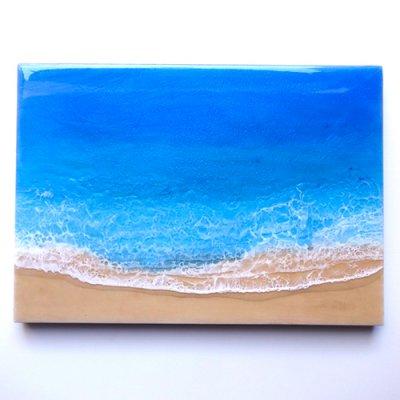 【Luana Ocean Art・ルアナオーシャンアート】  A4 アート #49・ホノルアブルー