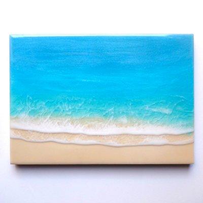 【Luana Ocean Art・ルアナオーシャンアート】  A4 アート #53・マケナグリーン
