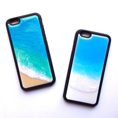 <img class='new_mark_img1' src='https://img.shop-pro.jp/img/new/icons2.gif' style='border:none;display:inline;margin:0px;padding:0px;width:auto;' />【Luana Ocean Art・ルアナオーシャンアート】  iPhone 6s Case ブラックバンパー ラニカイグリーン