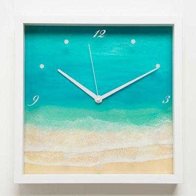 【Luana Ocean Art・ルアナオーシャンアート】 壁掛け時計・ラニカイグリーン