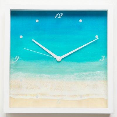 【Luana Ocean Art・ルアナオーシャンアート】 壁掛け時計・マケナグリーン
