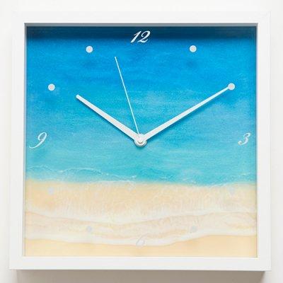 【Luana Ocean Art・ルアナオーシャンアート】 壁掛け時計・ホノルアブルー