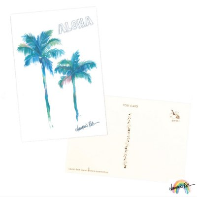 【Lauren Roth】ポストカード Palm Tree Aloha