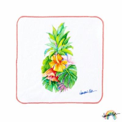 【Lauren Roth】ハンカチ Pinapple Rainbow【今治タオル】