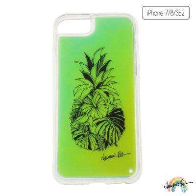 【Lauren Roth】iPhone ケース ネオン イエロー Pineapple