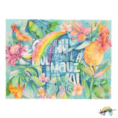 【Lauren Roth】Hawaii Island Names【12 x 16