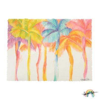 【Lauren Roth】Rainbow Palms【12 x 16