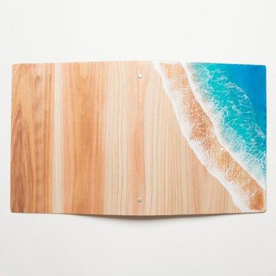 【Luana Ocean Art・ルアナオーシャンアート】  ウッドファイル ブルー A4 WOOD FILE BLUE