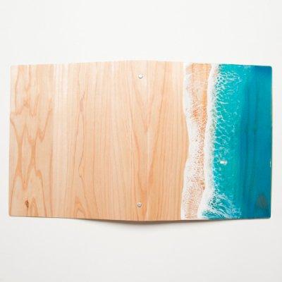 【Luana Ocean Art・ルアナオーシャンアート】  ウッドファイル グリーン A4 WOOD FILE GREEN