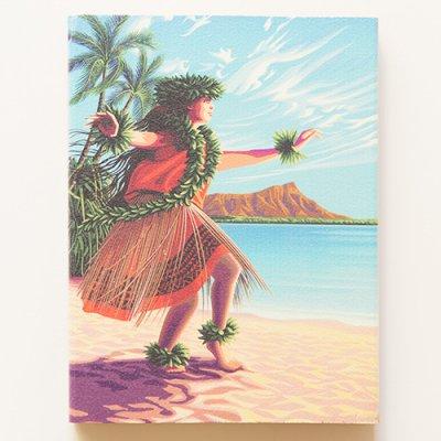 栗山義勝 [Yoshikatsu Kuriyama] Wood Art Print フラシリーズ hulastyle 01