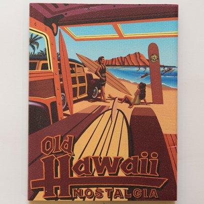 栗山義勝 [Yoshikatsu Kuriyama] Wood Art Print オールドハワイシリーズ ノスタルジア066
