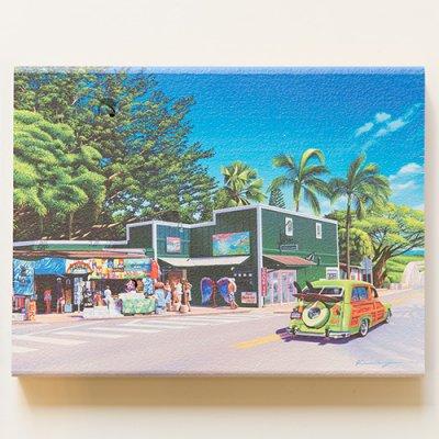 栗山義勝 [Yoshikatsu Kuriyama] Wood Art Print ハワイの風景シリーズ- アナフルズ112