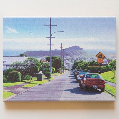 栗山義勝 [Yoshikatsu Kuriyama] Wood Art Print ハワイの風景シリーズ- ダイヤモンドヘッドへの道096