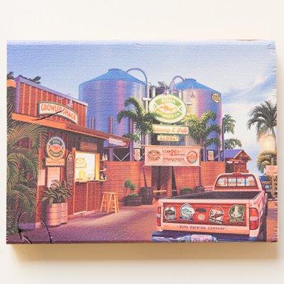 栗山義勝 [Yoshikatsu Kuriyama] Wood Art Print ハワイの風景シリーズ- コナビール工場078