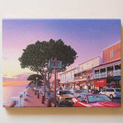 栗山義勝 [Yoshikatsu Kuriyama] Wood Art Print ハワイの風景シリーズ- ラハイナ073