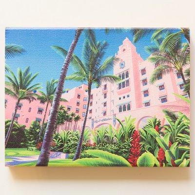 栗山義勝 [Yoshikatsu Kuriyama] Wood Art Print ハワイの風景シリーズ- ロイヤルハワイアン072