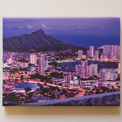 栗山義勝 [Yoshikatsu Kuriyama] Wood Art Print ハワイの風景シリーズ- タンタラス053