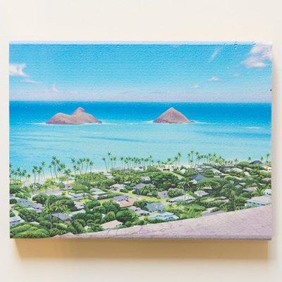 栗山義勝 [Yoshikatsu Kuriyama] Wood Art Print ハワイの風景シリーズ- カイルア035