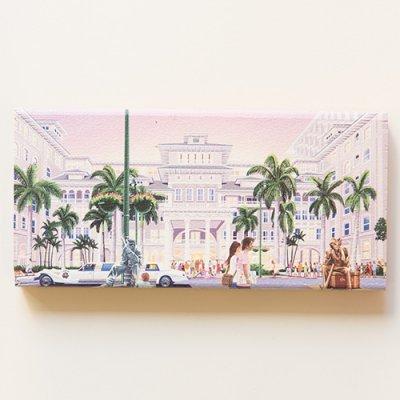 栗山義勝 [Yoshikatsu Kuriyama] Wood Art Print ハワイの風景シリーズ- モアナサーフ017