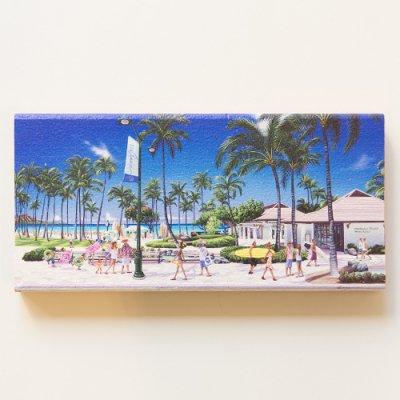 栗山義勝 [Yoshikatsu Kuriyama] Wood Art Print ハワイの風景シリーズ- ハワイオブハワイ016