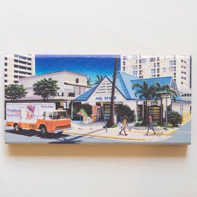 栗山義勝 [Yoshikatsu Kuriyama] Wood Art Print ハワイの風景シリーズ- ABC STORE007