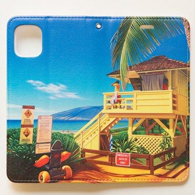 栗山義勝 [Yoshikatsu Kuriyama] 携帯ケース ハワイの風景シリーズ- ライフガードタワー099