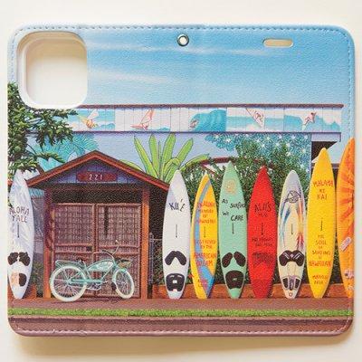 栗山義勝 [Yoshikatsu Kuriyama] 携帯ケース ハワイの風景シリーズ-パイアタウン088