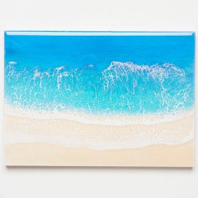 <img class='new_mark_img1' src='https://img.shop-pro.jp/img/new/icons2.gif' style='border:none;display:inline;margin:0px;padding:0px;width:auto;' />【Luana Ocean Art・ルアナオーシャンアート】  A4 アート #80・ホノルアブルー