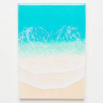 <img class='new_mark_img1' src='https://img.shop-pro.jp/img/new/icons2.gif' style='border:none;display:inline;margin:0px;padding:0px;width:auto;' />【Luana Ocean Art・ルアナオーシャンアート】  A5 アート #106・ラニカイグリーン