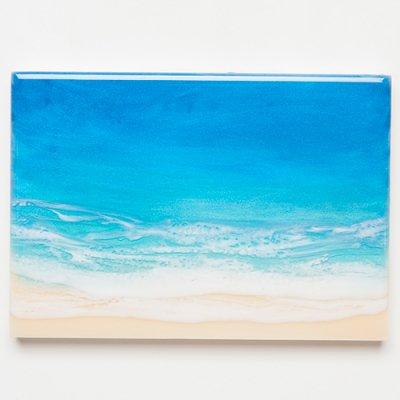 <img class='new_mark_img1' src='https://img.shop-pro.jp/img/new/icons2.gif' style='border:none;display:inline;margin:0px;padding:0px;width:auto;' />【Luana Ocean Art・ルアナオーシャンアート】  A5 アート #92・ホノルアブルー