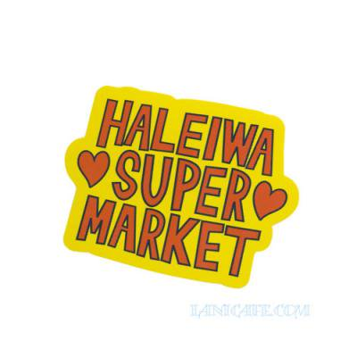 【Haleiwa Super Market】ステッカー・イエロー ハレイワ★<img class='new_mark_img2' src='//img.shop-pro.jp/img/new/icons1.gif' style='border:none;display:inline;margin:0px;padding:0px;width:auto;' />
