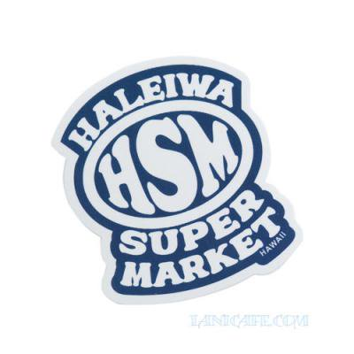 【Haleiwa Super Market】ステッカー・ブルーHSM★<img class='new_mark_img2' src='https://img.shop-pro.jp/img/new/icons1.gif' style='border:none;display:inline;margin:0px;padding:0px;width:auto;' />