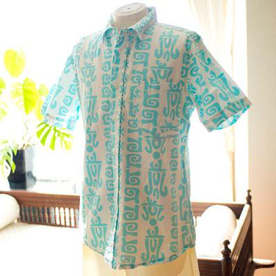 Vintage Aloha Shirt/  Local Mottion ライトブルー Mサイズ