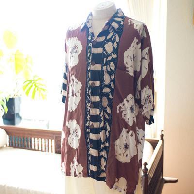Vintage Aloha Shirt/ MANGO MOON ブラウン×ブラック Mサイズ