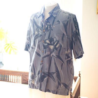 Vintage Aloha Shirt/ KAHALA グレー Mサイズ