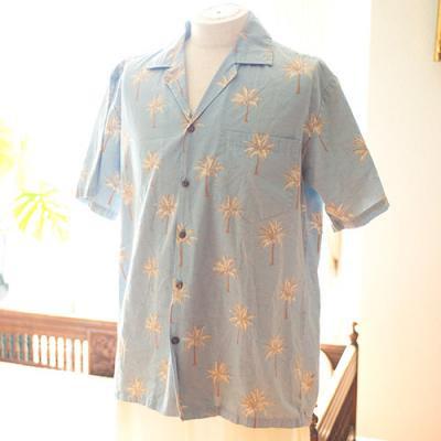 Vintage Aloha Shirt/ PACIFIC LEGEND グレー Mサイズ