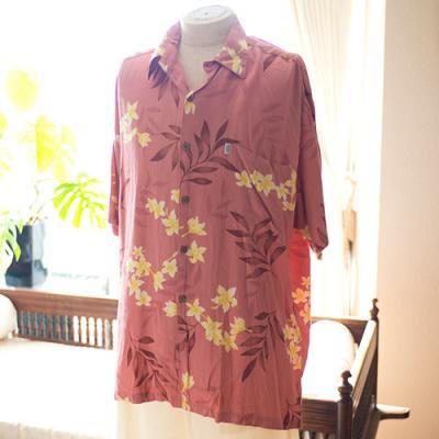 Vintage Aloha Shirt/ Hawaiian Moon  ピンク Lサイズ