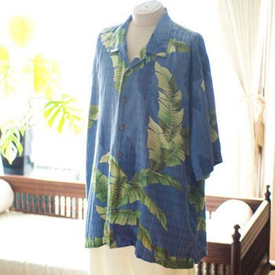 Vintage Aloha Shirt/ Bermuda Bay ネイビーLLサイズ