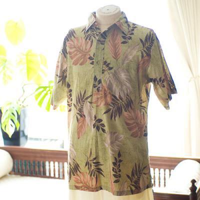 Vintage Aloha Shirt/ ONO COMPANY BY LIBERTY HOUSE グリーン Sサイズ