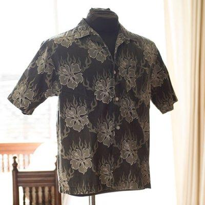 Vintage Aloha Shirt/ GOTCHA  ブラック BOYS Mサイズ